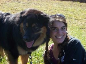 Jababa and his mom at the Blue Ridge Parkway.